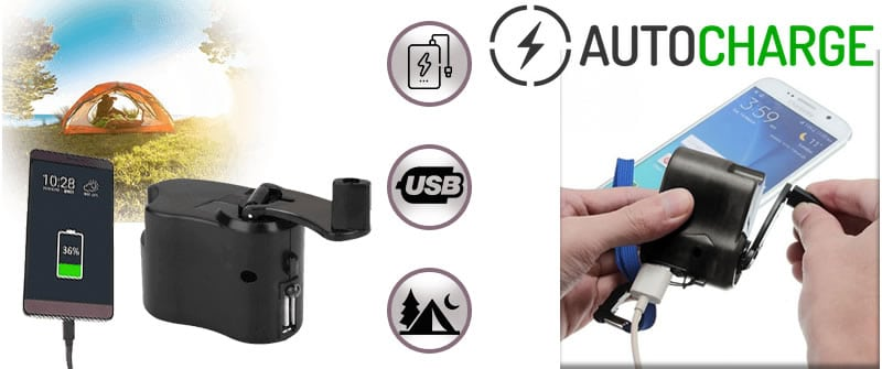 AutoCharge hand cranking dynamo charger reviews