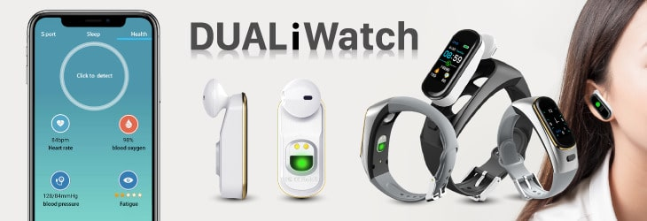 Dual iWatch, montre intelligente tout-en-un mains libres