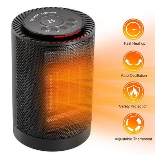Ecoheat S est le petit radiateur en céramique le plus puissant du marché
