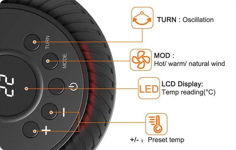 ecoheat s calefactor ceramico de bajo consumo inteligente