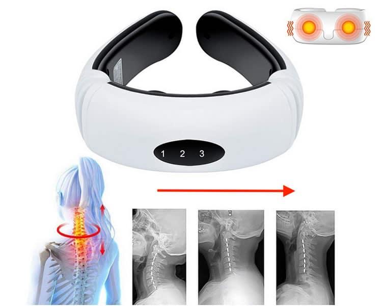 neck massager masajeador eléctrico de cuello