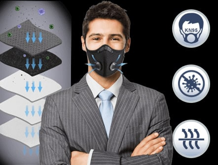 carbonmask N95 antiviral mask with double carbon filter cheaper