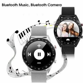 gx smartwatch control musica y fotos por bluetooth
