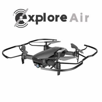 Explore Air drone con retorno GPS y cámara angular HD