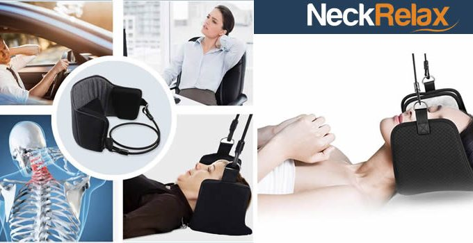 Neck Relax device in straps for neck pain
