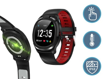 Tempwatch smartwatch with thermometer and blood oxygen measurement