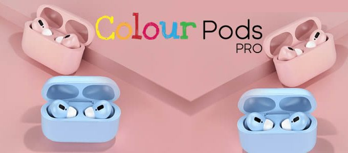 Colour Pods Pro colored wireless headphones