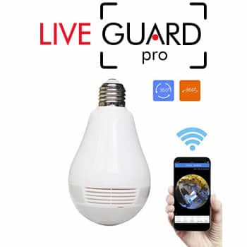 buy LiveGuard Pro spy camera hidden in bulb reviews and opinions