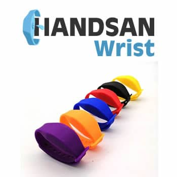 Handsan Wrist bracelet dispenser gel hydroalcoholic disinfectant review and opinions