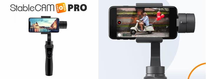 Stablecam Pro support for photos and video reviews and opinions