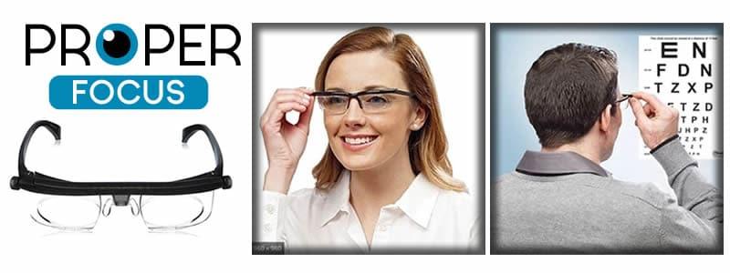 Properfocus VisionPro os óculos ajustáveis para visão cansada