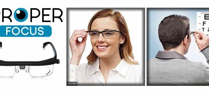 Properfocus verstellbare Brille für mude sicht