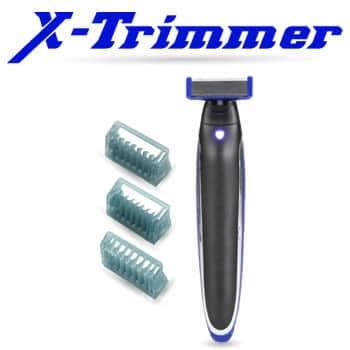 Regalo per uomo X-Trimmer il nuovo rasoio elettrico a led in acciaio grezzo senza irritazioni