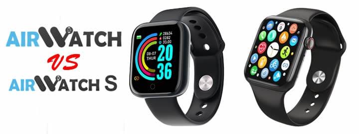 Airwatch versus Airwatch S comparison of the two smartwatch