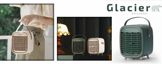 Glacier Air Cooler mini refroidisseur air élégant