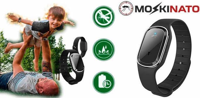 Moskinator relógio pulseira anti mosquito